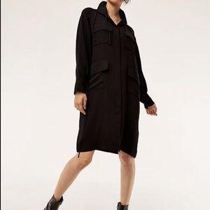 Aritzia Babaton Howitt Black Long-sleeve Dress